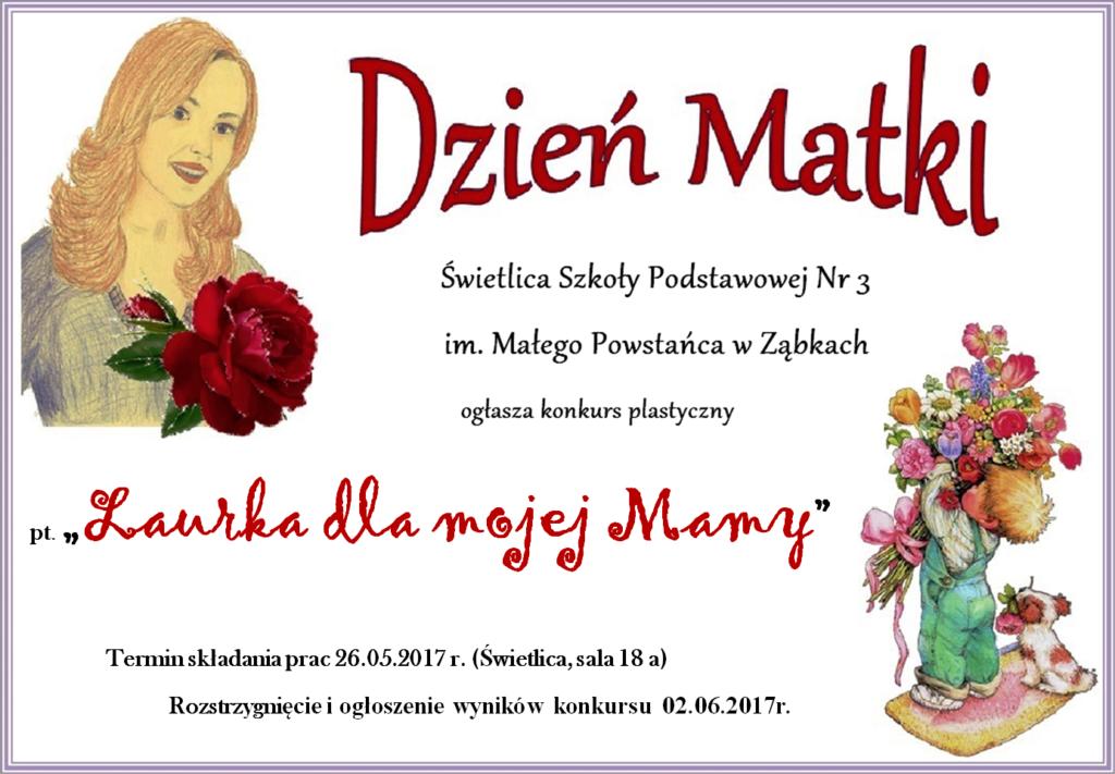 plakat Dzien Matki